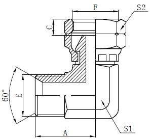 Kreslenie kolenného konektora BSP