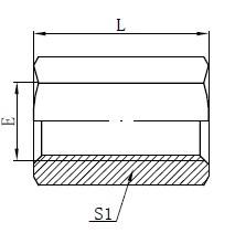 Adaptér pre samičie adaptéry BSP Kreslenie