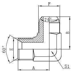 Hydraulické adaptéry BSP Kreslenie
