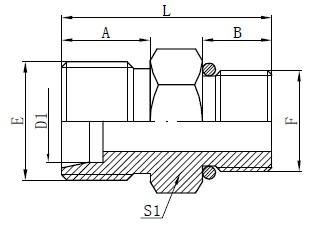 SAE O-krúžok Hadicové konektory