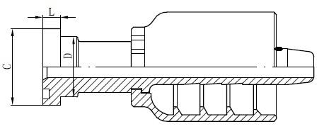 Kreslenie konektora trubice SS